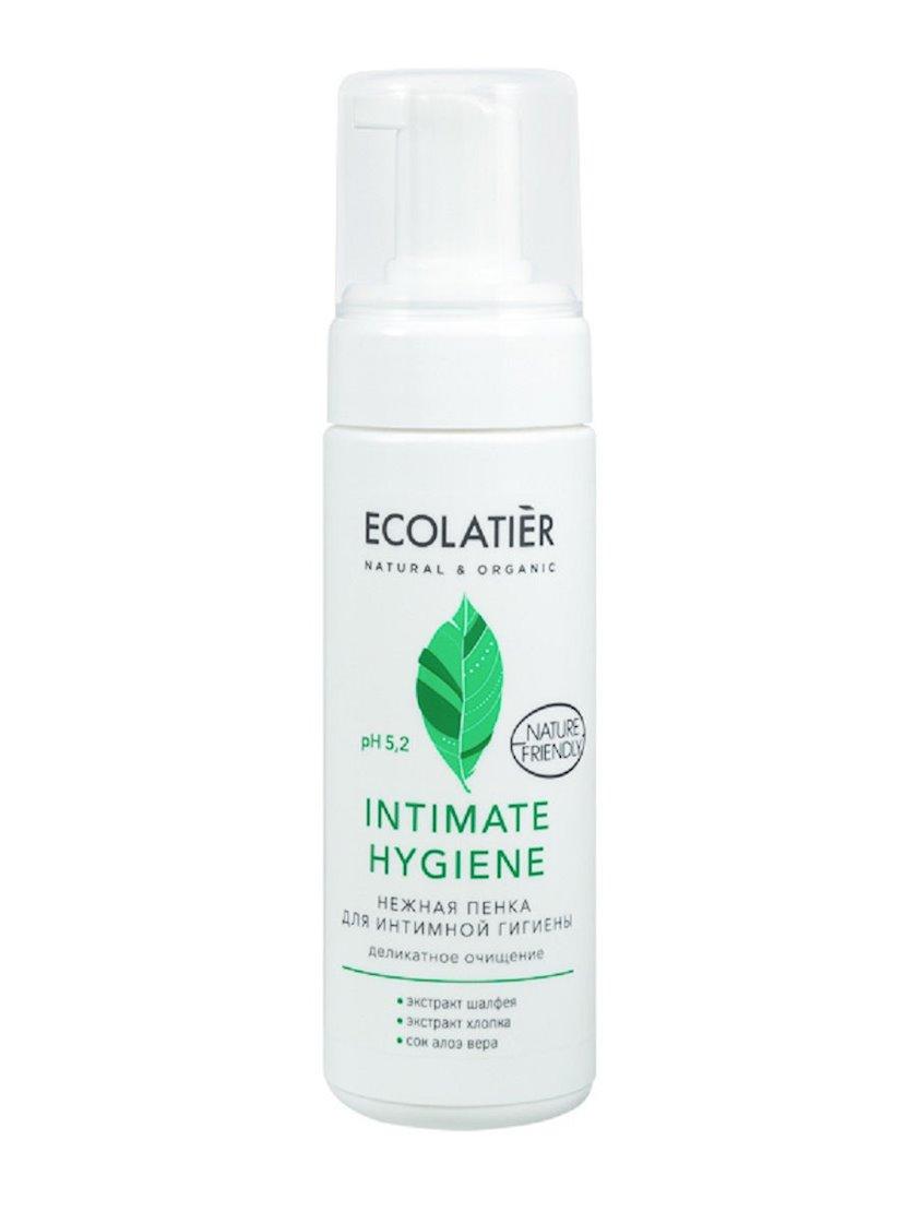 İntim gigiyena üçün zərif köpük Ecolatier Intimate Hygiene adaçayı və pambıq ekstraktları ilə 150 ml