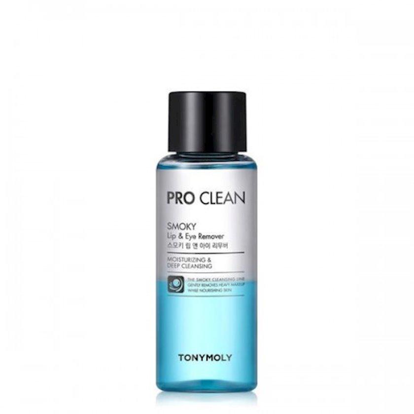 Makiyaj təmizləməsi üçün vasitə Tony Moly Pro Clean Smoky Lip & Eye Remover 100 ml