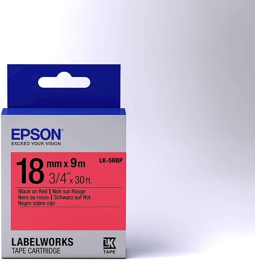 Lent Epson Tape - LK5RBP Pastel Black/Red 18/9