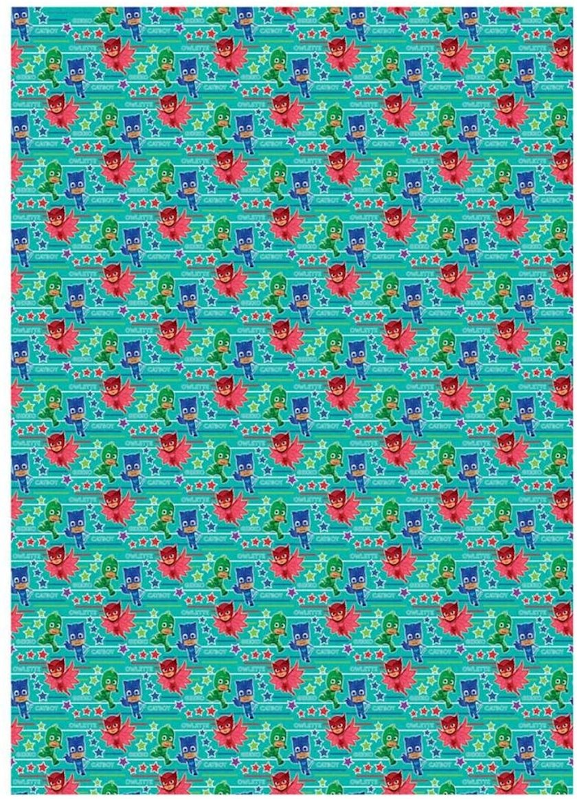 Qablaşdırma kağızı Gemma Designs LT PJ MASKS Roll Gift Wrap 4m