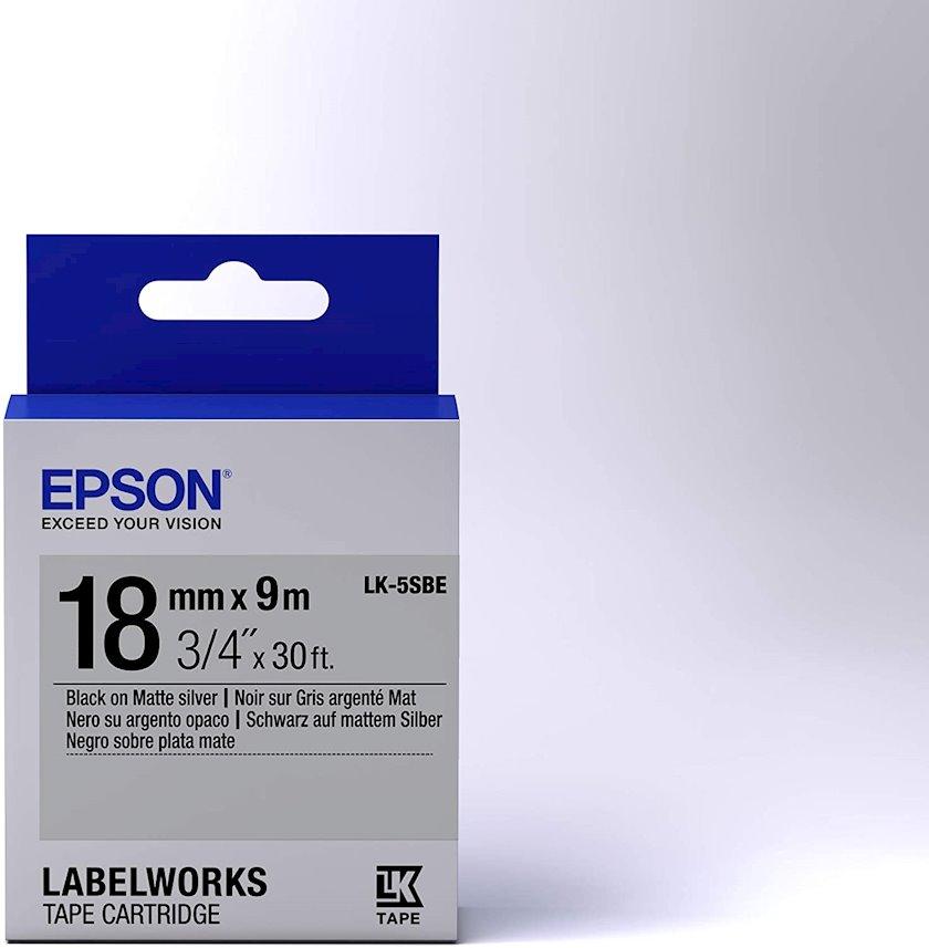 Lent Epson Tape - LK5SBE Matte Black/Matte Silver 18/9