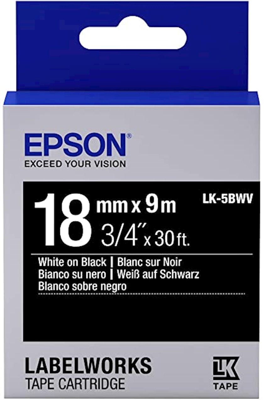 Lent Epson Tape - LK5BWV Vivid White/black 18/9