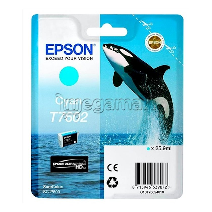 Kartric Epson T760 SC-P600 Cyan