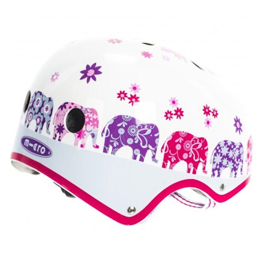 Qoruyucu dəbilqə qızlar üçün Micro Helmet Elephant, 7+ yaş, M ölçü 52-56 sm