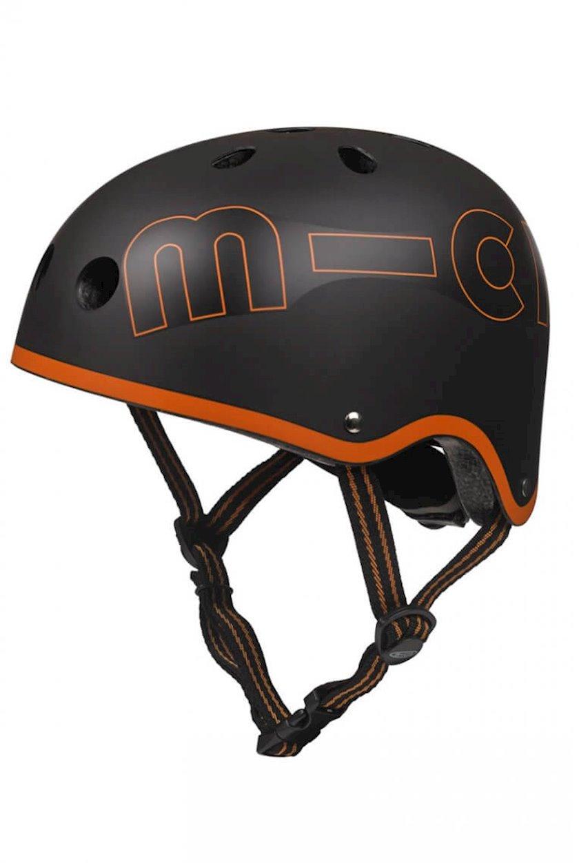 Qoruyucu dəbilqə Micro Helmet Black&Orange, qara/narıncı, 7+ yaş, M ölçü 52-56 sm