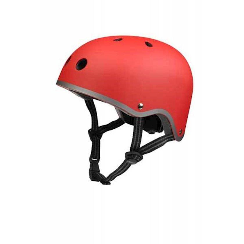 Qoruyucu dəbilqə Micro Helmet Red Matt, qırmızı, 7+ yaş, M ölçü 52-56 sm