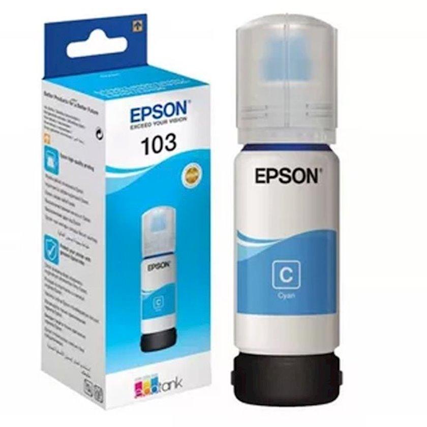 Mürəkkəb konteyneri Epson 103 EcoTank Cyan ink bottle