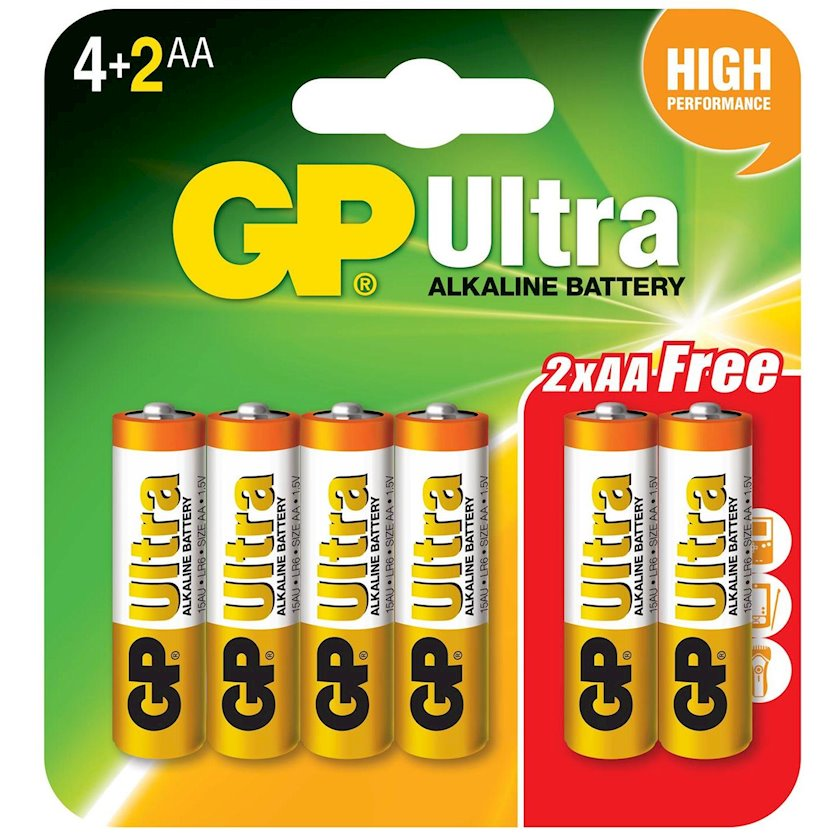 Batareya GP AA LR6 Ultra Alkaline