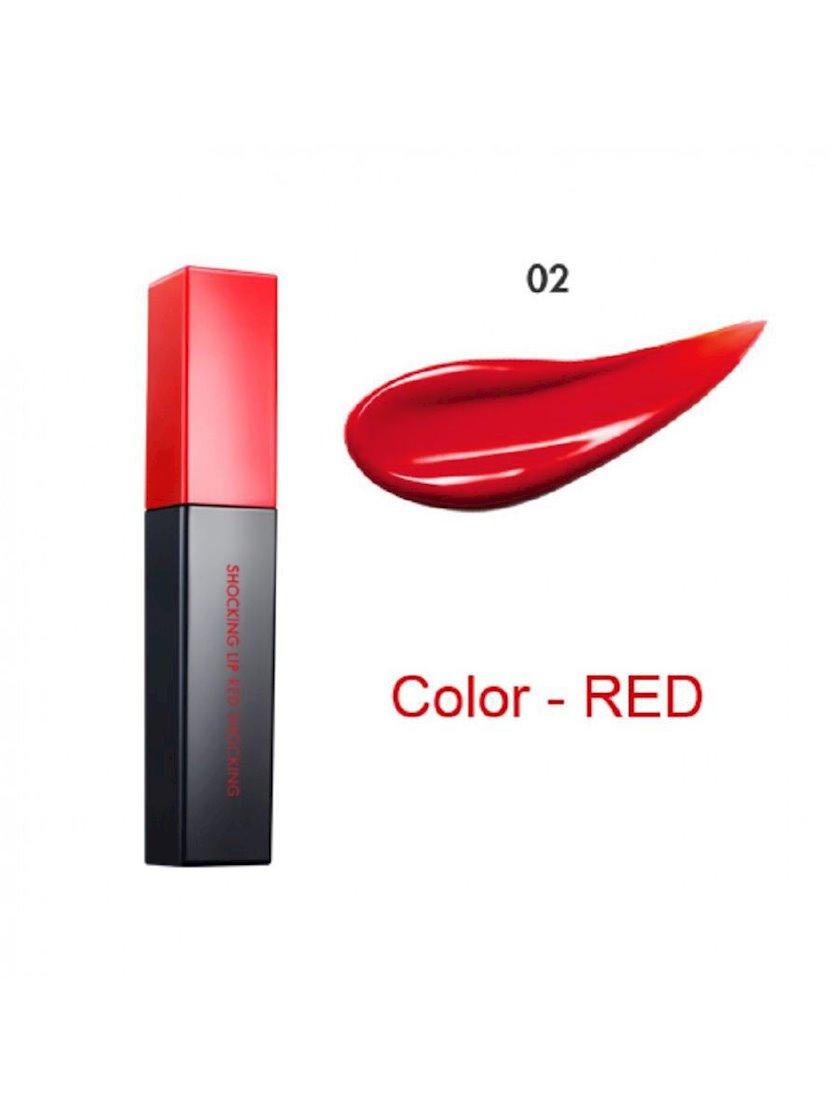Dodaq üçün tint tatu effekti ilə Tony Moly Perfect Lip'S Shocking Lip 02 Red Shocking 4.5 q