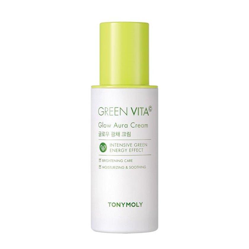 Üz parıltısı üçün nəmləndirici krem Vitamin C tərkibli Tony Moly Green Vita C Glow Aura Cream 50 ml