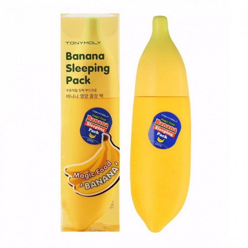 Üz üçün banan tərkibli qidalandırıcı gecə maskası Tony Moly Magic Food Banana Sleeping Pack 85 ml