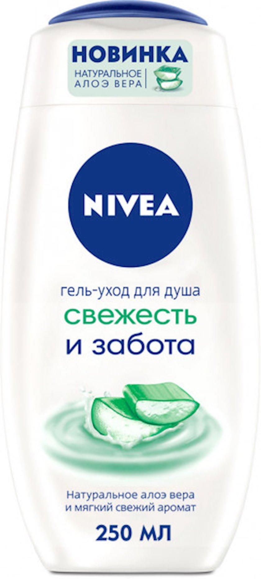 Duş üçün gel Nivea Sərinlik və qulluq natural eloye vera ilə 250 ml