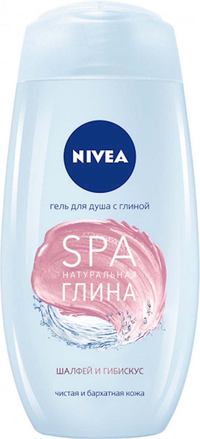 Duş üçün gel Nivea SPA natural gil Adaçayı və hibiskus 250 ml