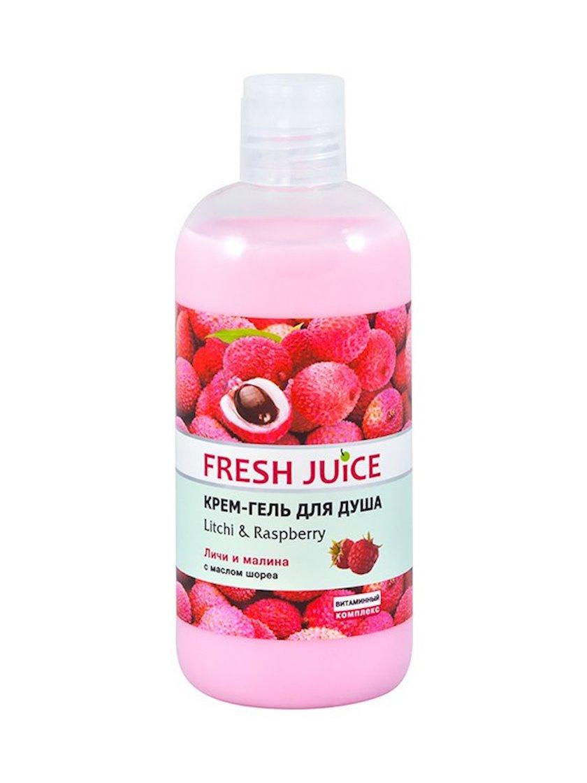 Duş üçün gel-krem Fresh Juice Litchi & Raspberry 500 ml