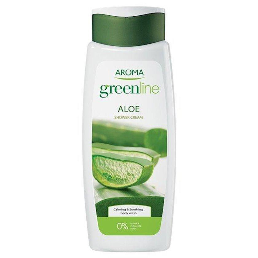 Duş üçün gel-krem Aroma Greenline Shower Cream Aloe, 400 ml