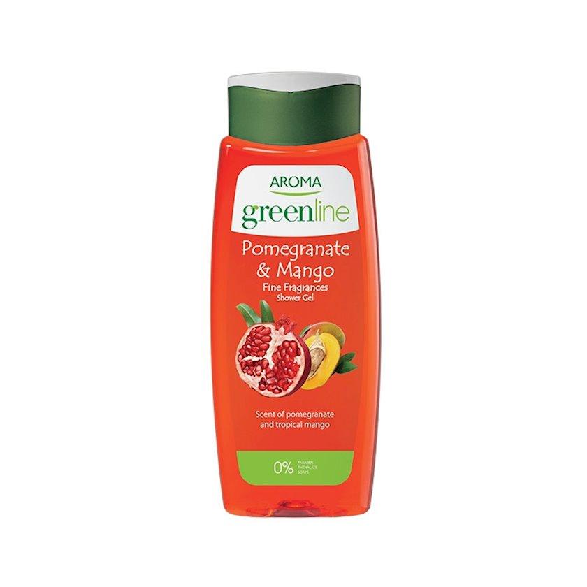 Duş üçün gel Aroma Greenline Pomegranate & Mango, 400 ml