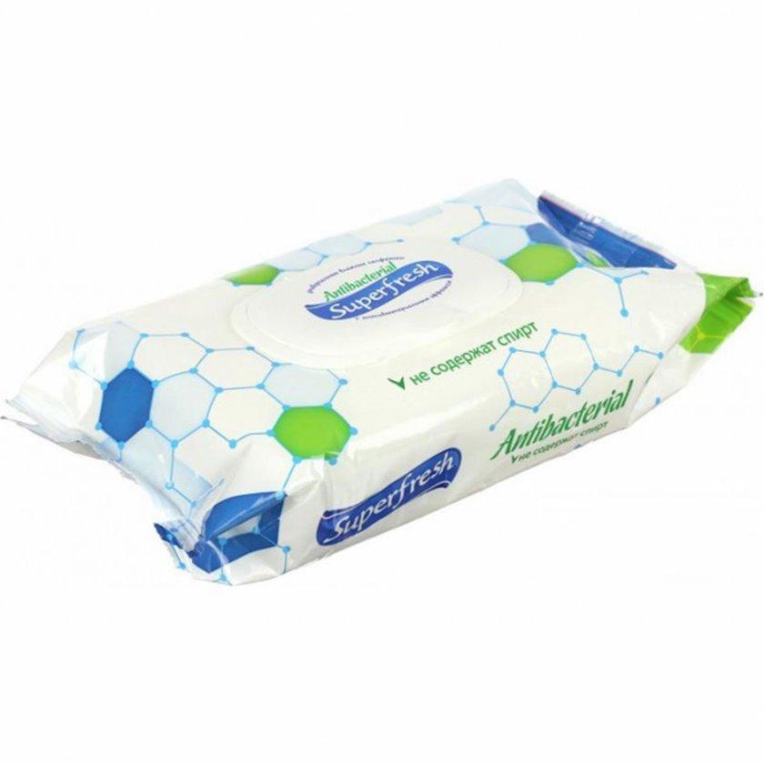 Antibakterial salfetlər Super Fresh qapaq ilə, 72 ədəd