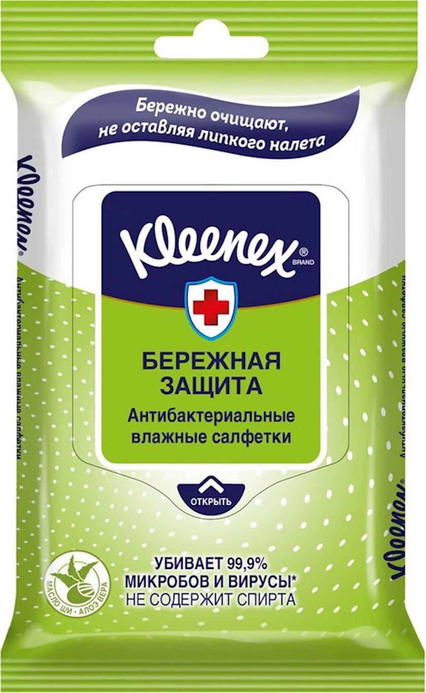 Nəm salfetlər Kleenex Antibakterial, 10 ədəd