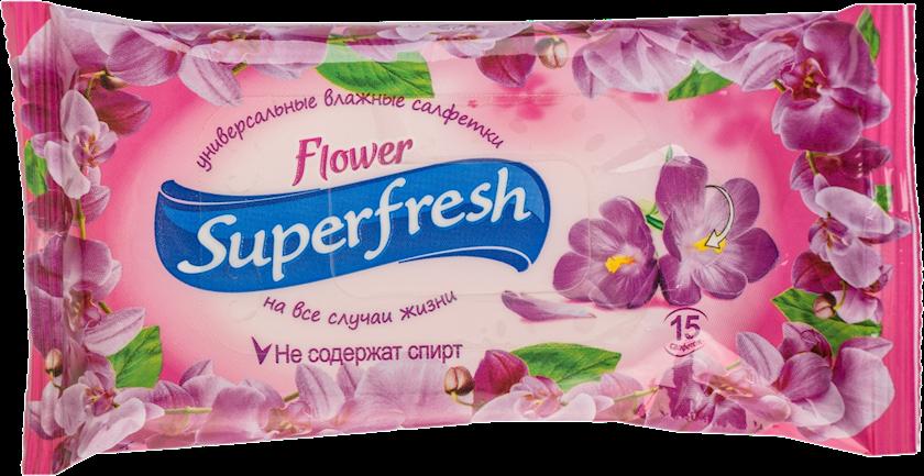 Nəm salfetlər Super Fresh Breeze Limited Edition, 15 ədəd