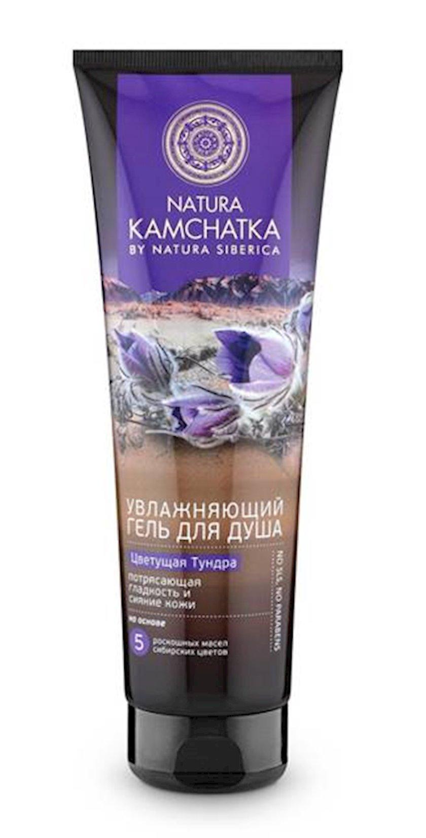 Duş üçün gel Natura Siberica Kamchatka Çiçəklənən tundra, 250 ml
