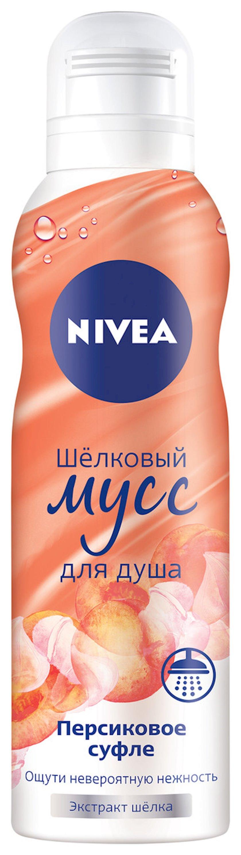 Muss duş üçün Nivea Şaftalı sufle, 200 ml