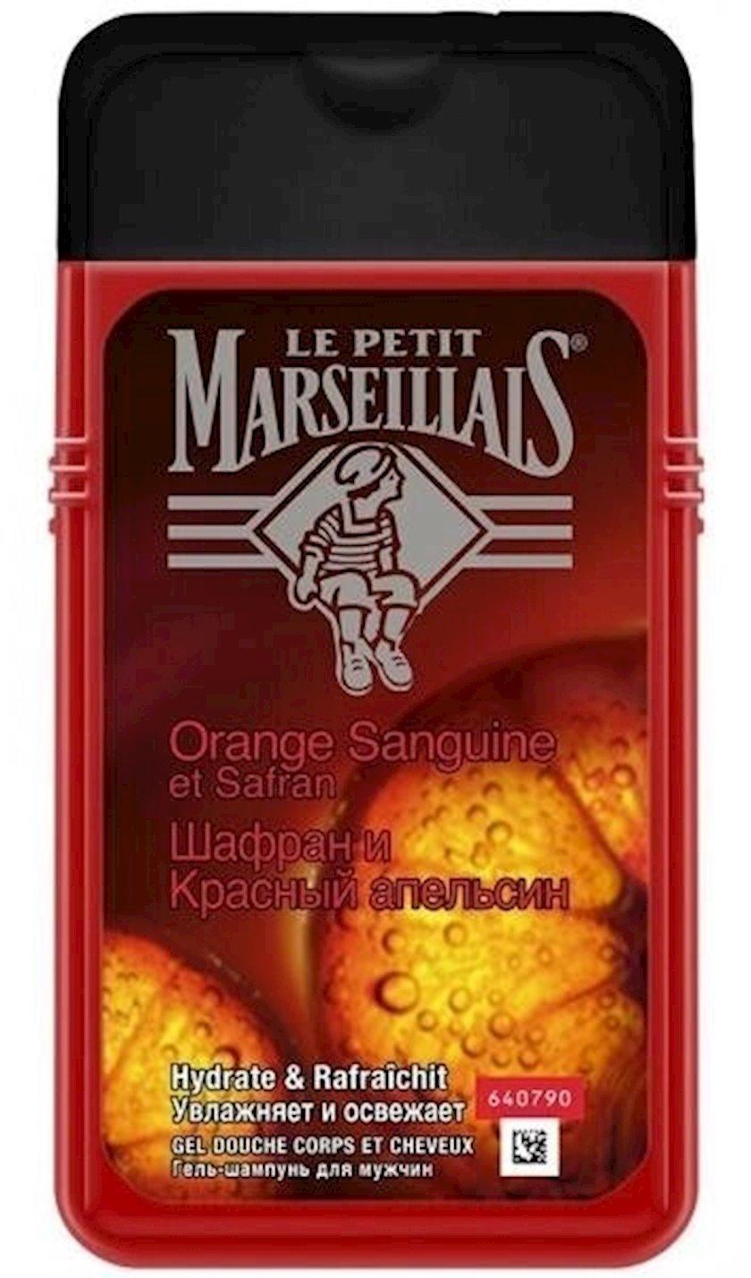 Gel-şampun kişilər üçün Le Petit Marseillais zəfəran və qırmızı portağal, 250 ml