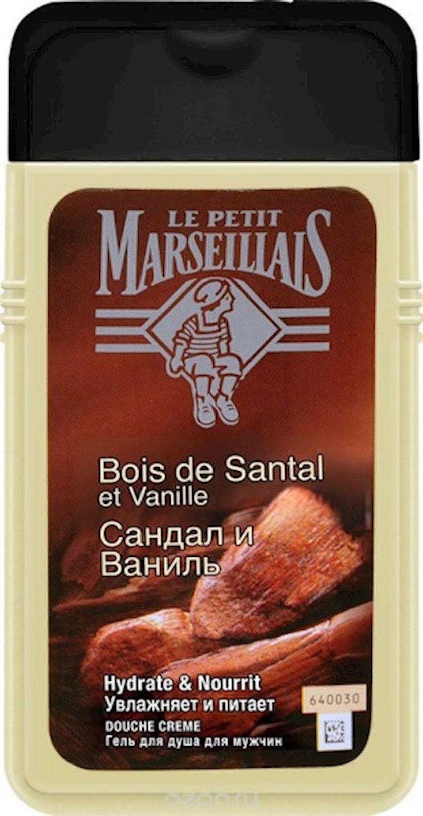 Duş üçün gel Le Petit Marseillais Səndəl və Vanil 250 ml