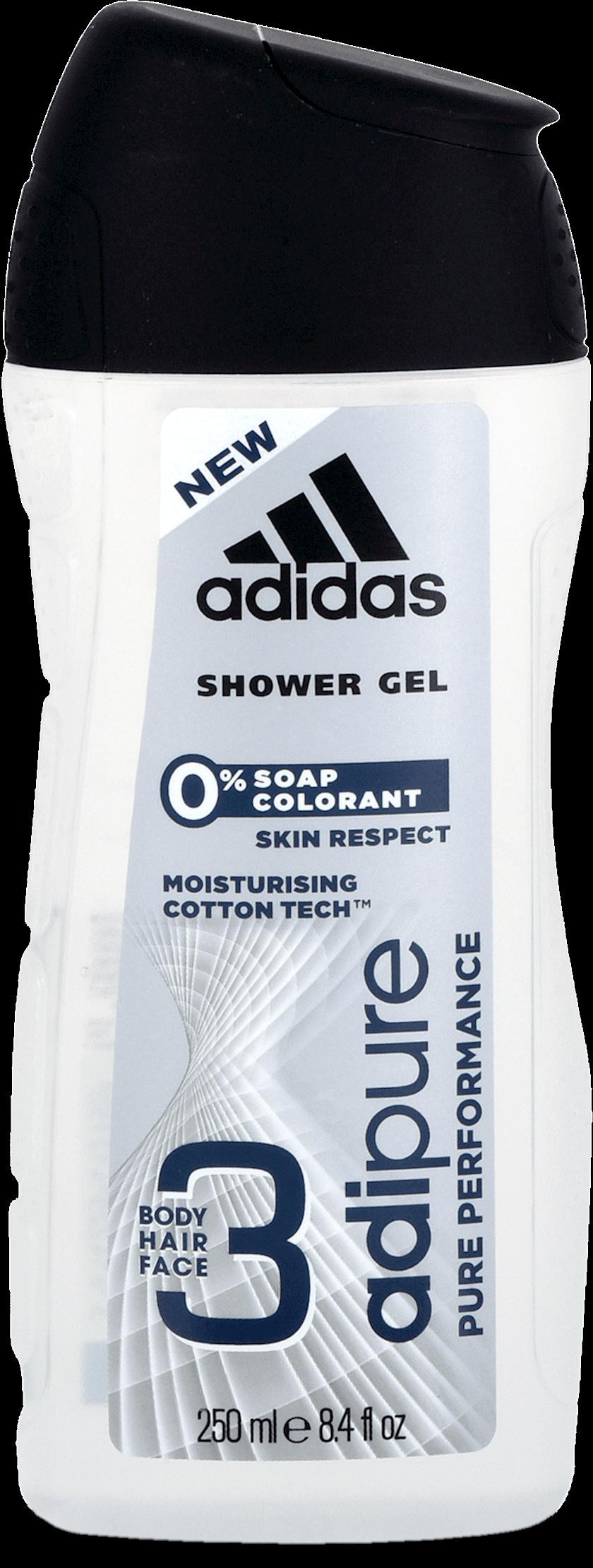 Duş üçün gel kişilər üçün Adidas Adipure 250ml