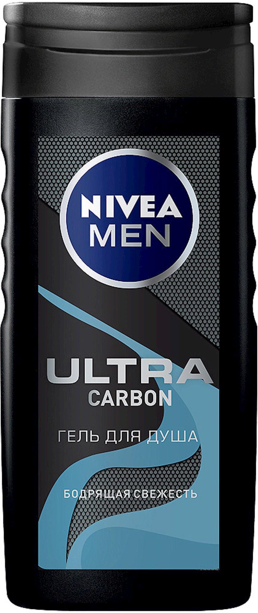 Duş üçün gel Nivea Men Ultra Carbon kişilər üçün daş duzu ilə 250 ml