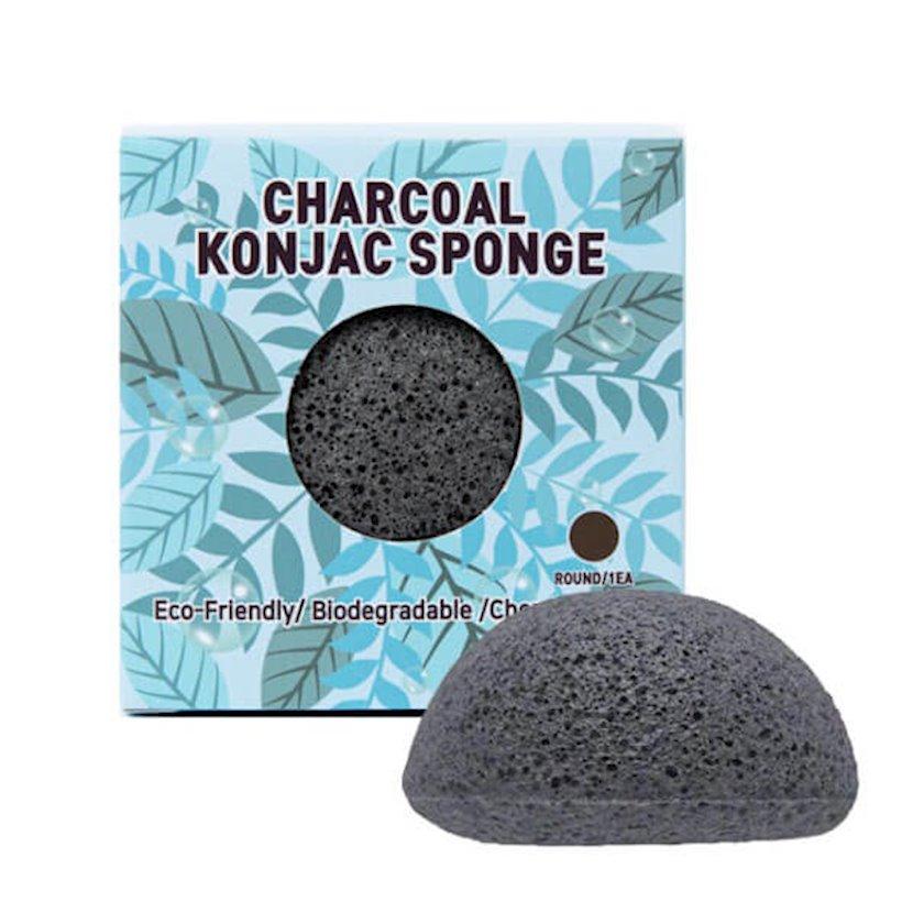 Konnyaku süngəri ağac kömürü ilə Trimay Charcoal Konjac Sponge