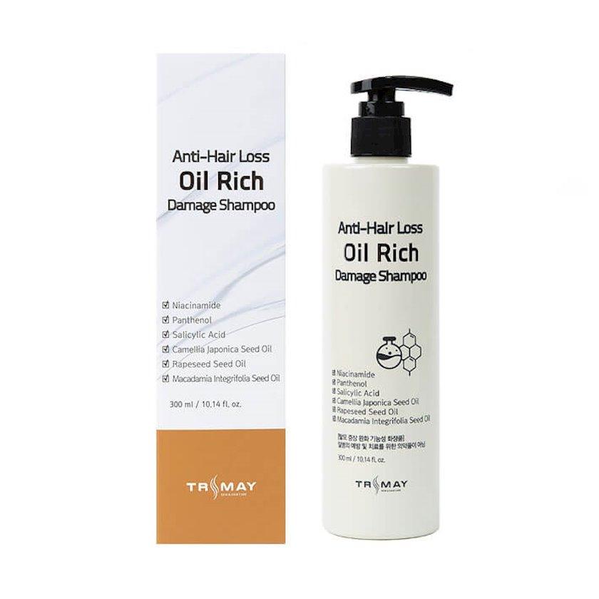 Zədələnmiş saçlar üçün şampun Trimay Anti-Hair Loss Oil Rich Damage Shampoo 300 ml
