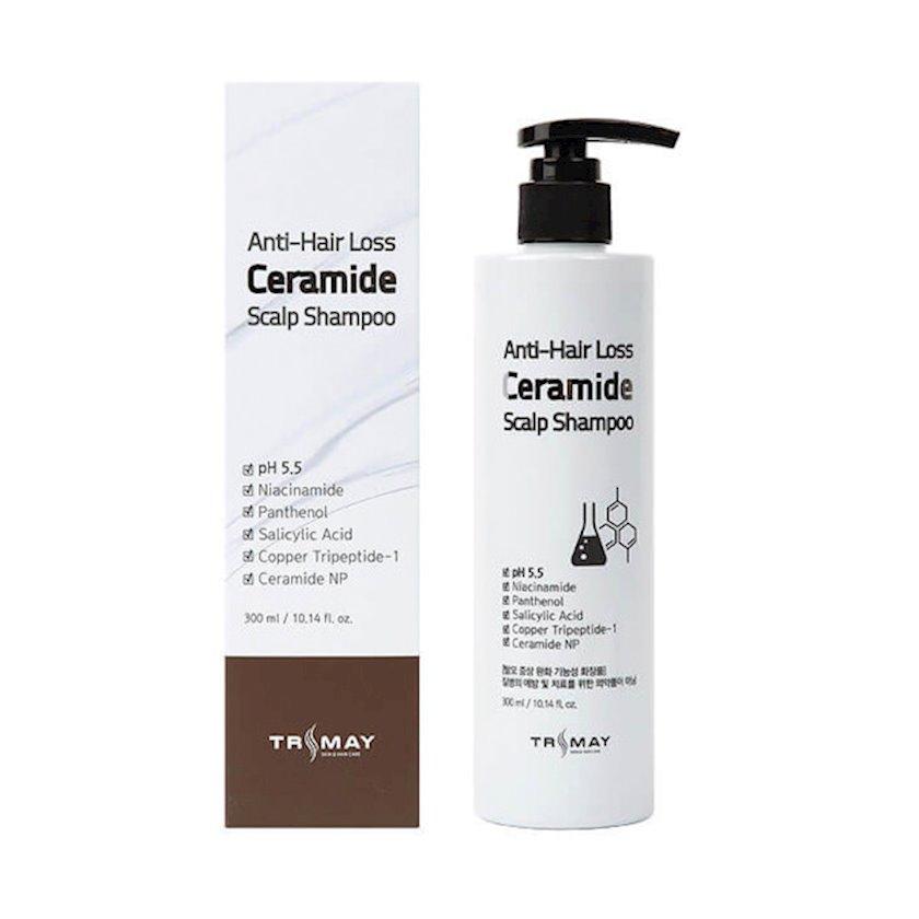 Saç tökülməsinə qarşı seramid ilə şampun Trimay Anti-Hair Loss Ceramide Scalp Shampoo 300 ml