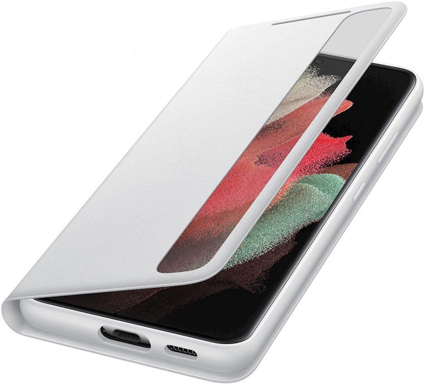Çexol Samsung Galaxy S21 Ultra Smart Clear View Cover Silver