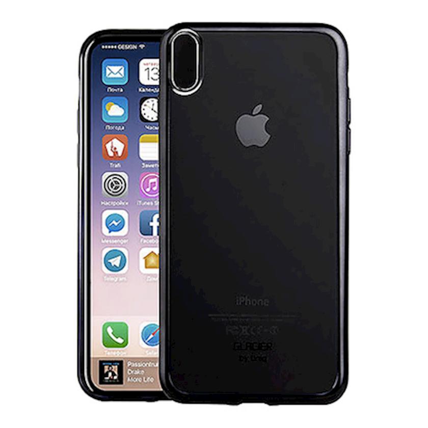Çexol Uniq Glacier Glitz Apple iPhone X /XS Black üçün
