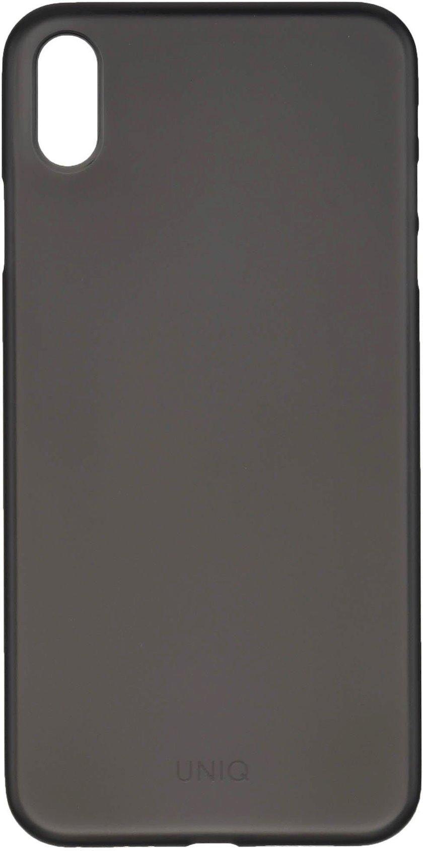Çexol Uniq Hybrid Bodycon Apple iPhone XS Max Matte Black üçün