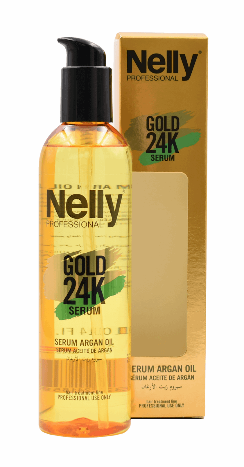 Serum Nelly Professional arqan yağı ilə 24K Gold 300 ml