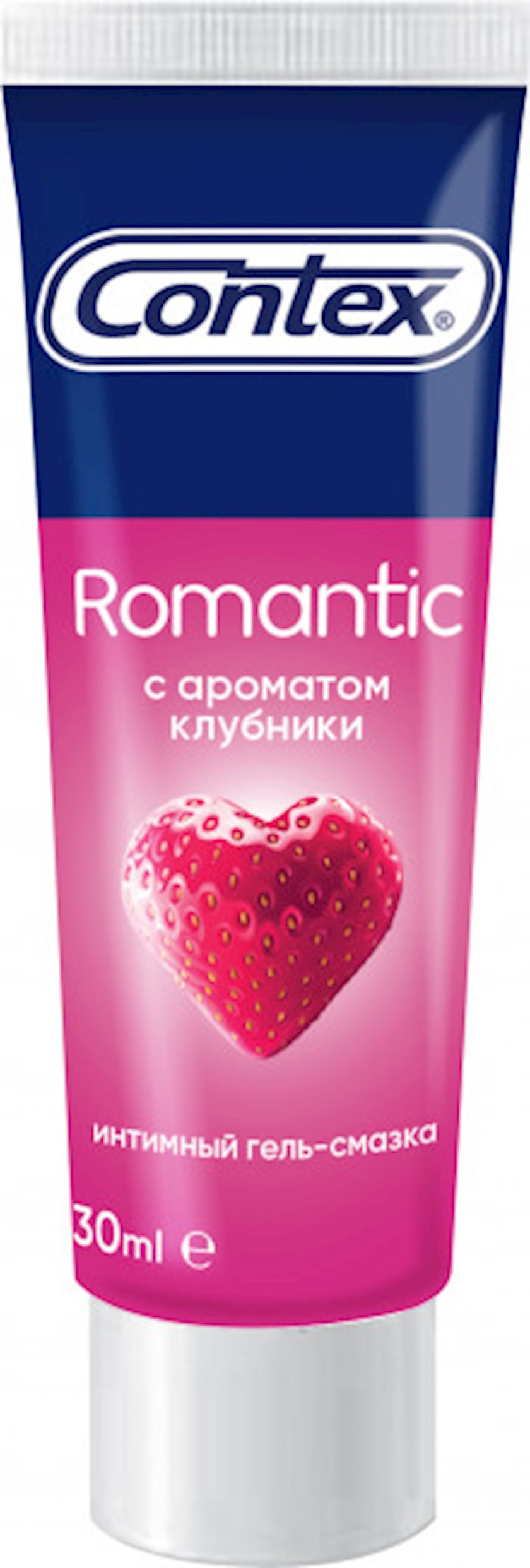 İntim gel-yumşaldıcı Contex Romantic Çiyələk ətri ilə 30 ml