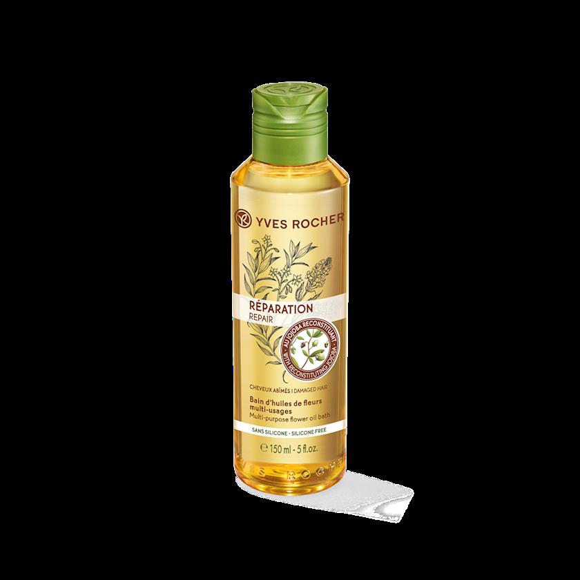 Saçlar üçün bərpaedici yağ Yves Rocher Multi-Purpose Flower Oil 150 ml