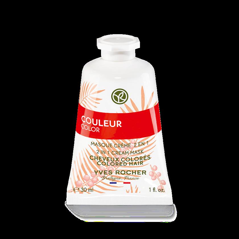 Maska-krem Yves Rocher 2 in 1 Qoruma və rəngləndirilmiş saçların parıltısı 30 ml