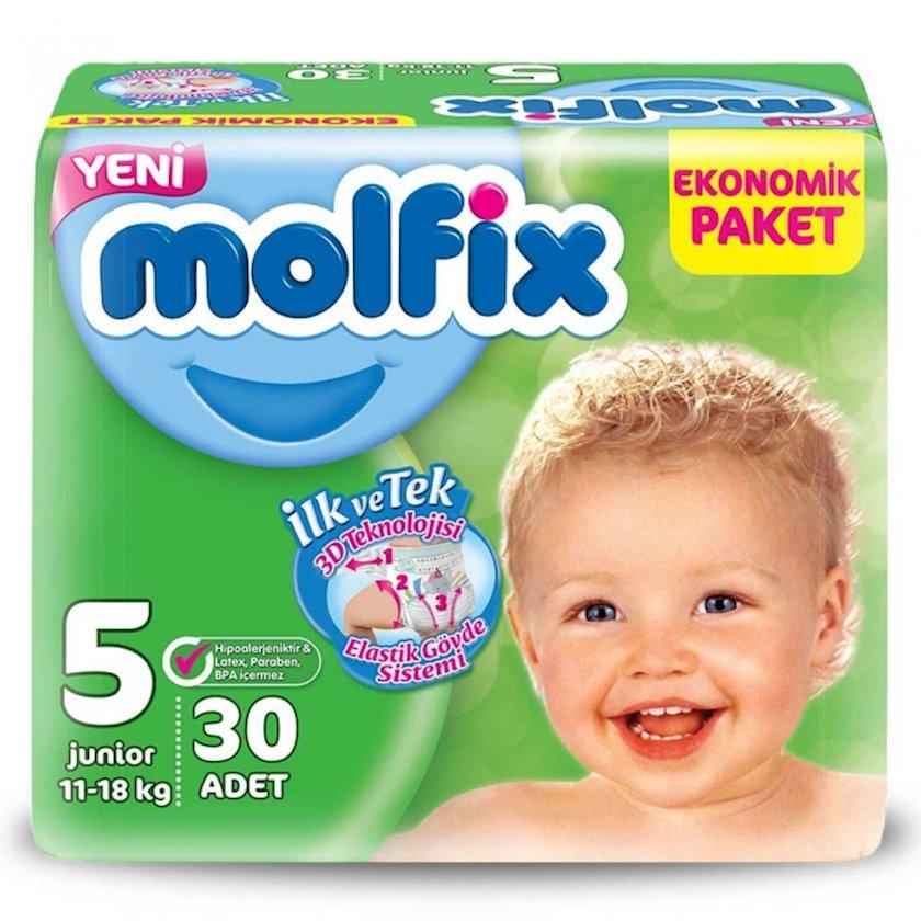 Uşaq bezi Molfix Jumbo 5, 11-18 kq, 36 əd.