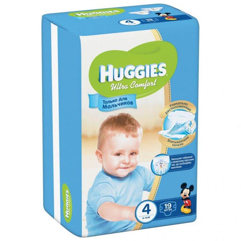 Uşaq bezi Huggies Ultra Comfort 4 Oğlanlar üçün, 8-14 kq, 19 əd.