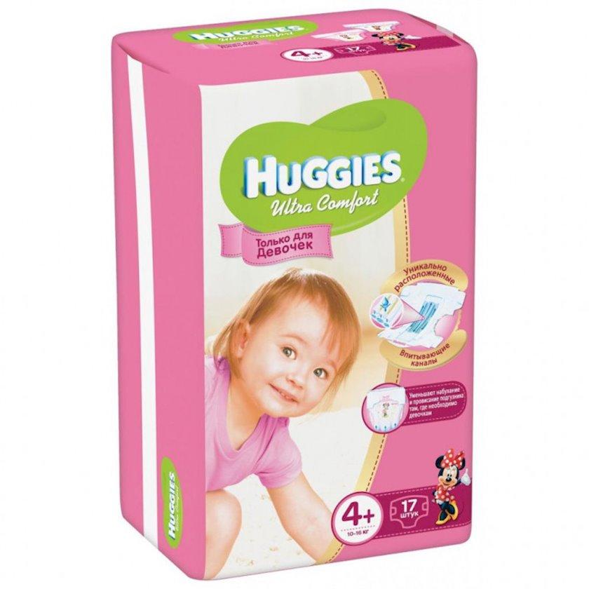 Uşaq bezi Huggies Ultra Comfort 4+ Qızlar üçün, 10-16 kq, 17 əd.