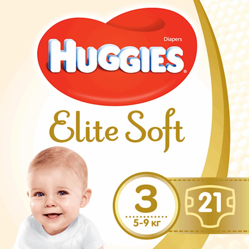 Uşaq bezi Huggies Elite Soft 3, 5-9 kq, 21 əd.