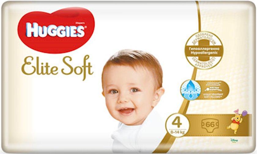 Uşaq bezi Huggies Elite Soft 4, 8-14 kq, 66 əd.