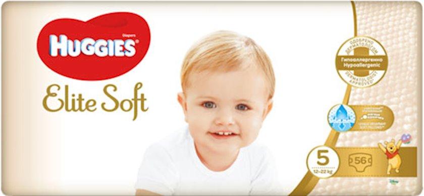 Uşaq bezi Huggies Elite Soft 5, 12-22 kq, 56 əd.