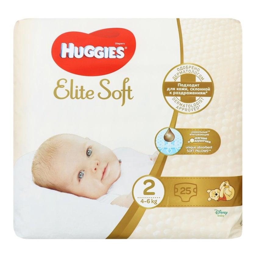 Uşaq bezi Huggies Elite Soft 2, 4-6 kq, 25 əd.