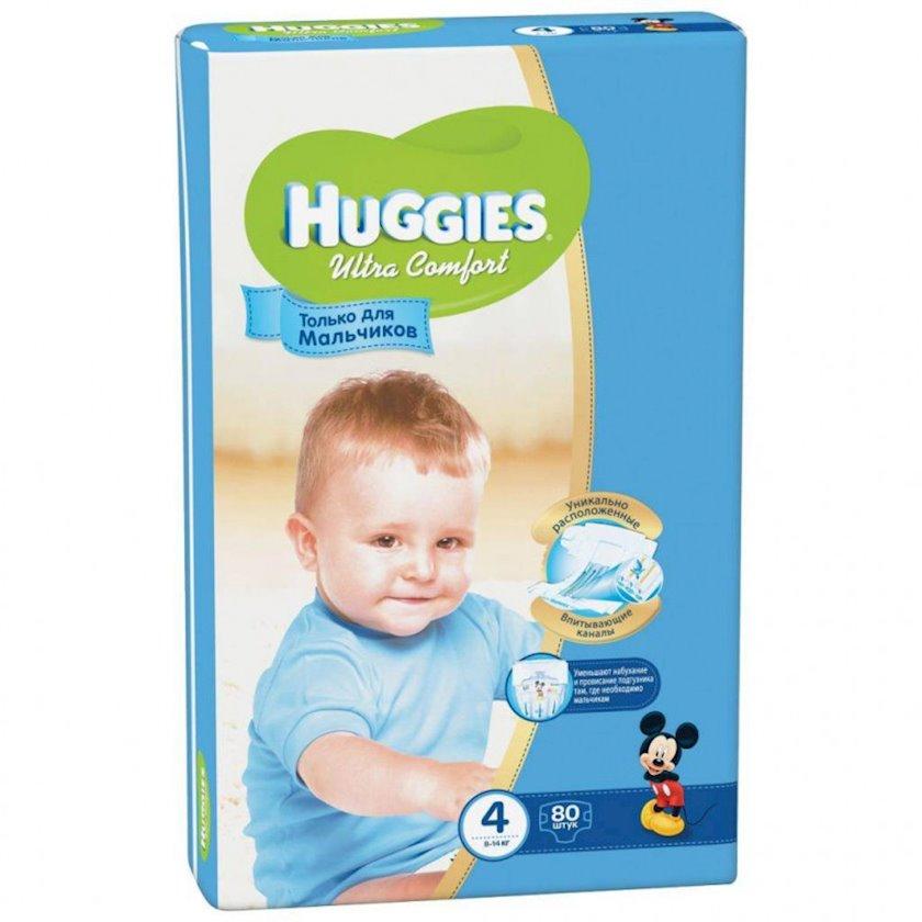 Uşaq bezi Huggies Ultra Comfort 4 Oğlanlar üçün, 8-14 kq, 80 ədəd