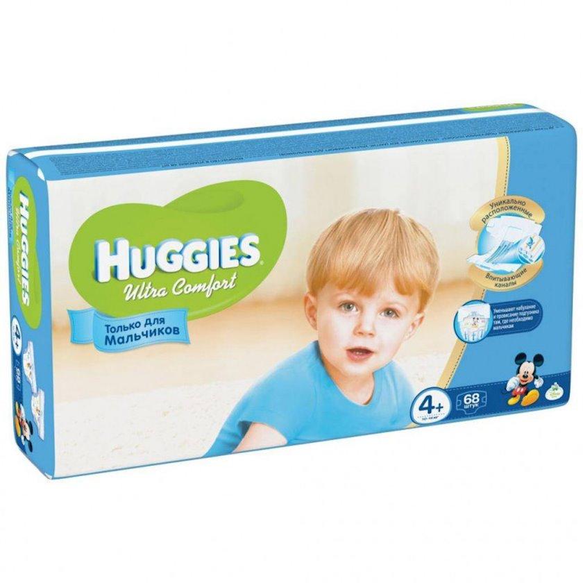 Uşaq bezi Huggies Ultra Comfort 4+ oğlanlar üçün, 10-16 kq, 68 əd.