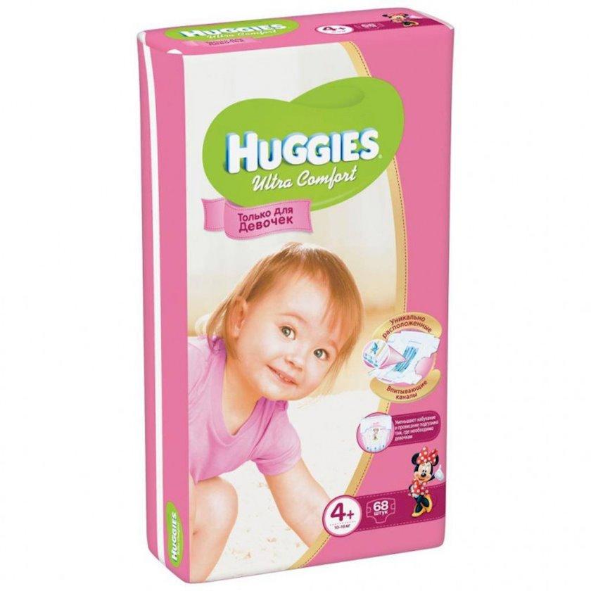 Uşaq bezi Huggies Ultra Comfort Giga 4+ qızlar üçün, 10-16 kq, 68 əd.