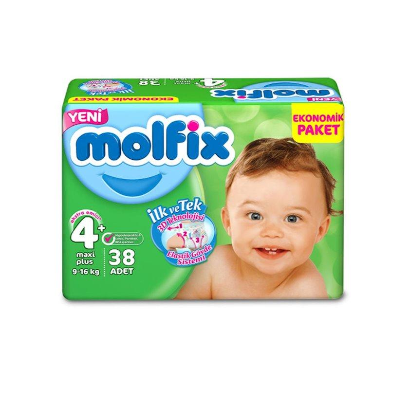 Uşaq bezi Molfix maxi 4, 9-16 kq, 38 əd.